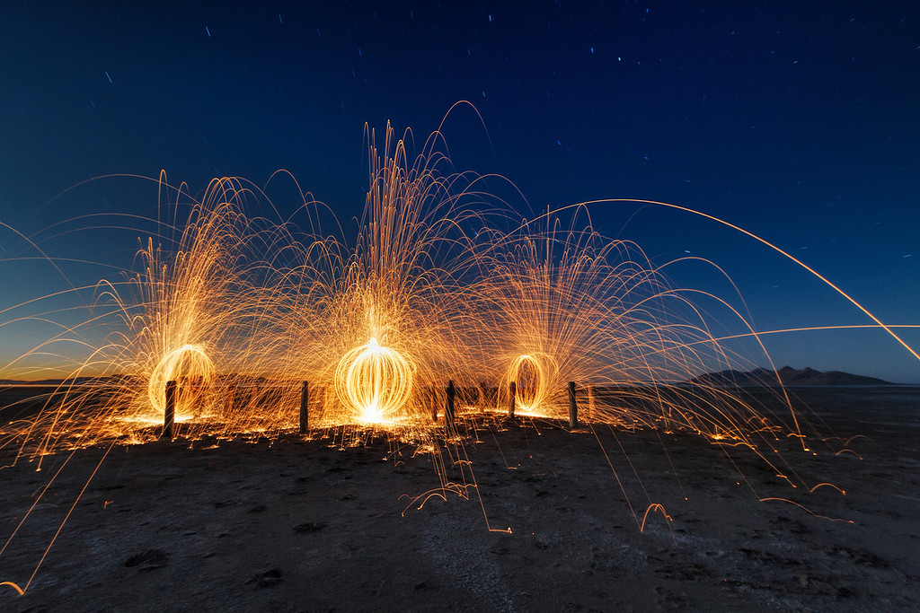 Saltair burning down