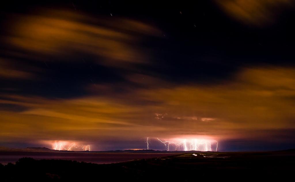 """Great Salt Lake, Utah; Energizer Bunny, """"Shot 11"""""""