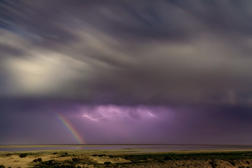 moonbow and lightning