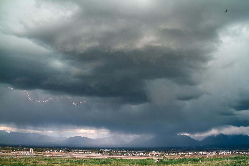 very wet spring lightning storm 5-7-13