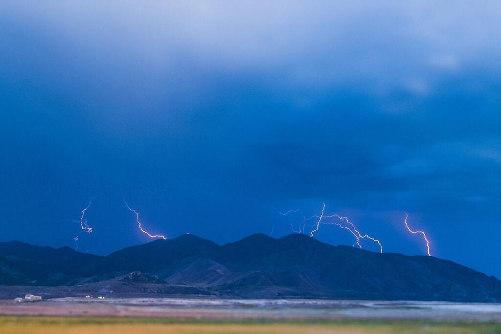 Oquirrh Mountain storm