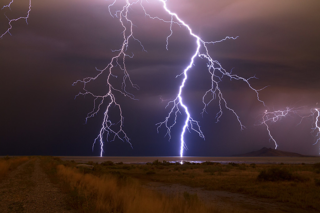 Lightning Great Salt Lake