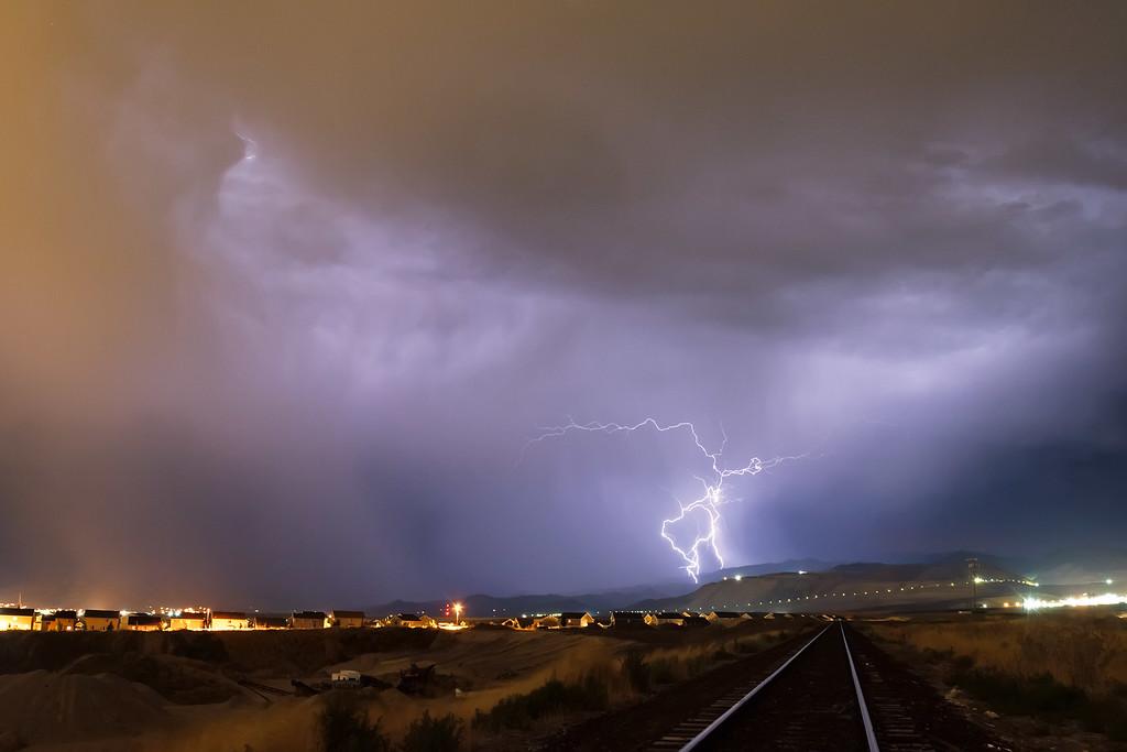 Butterfield Canyon Lightning storm