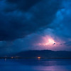 Blue hour lightning