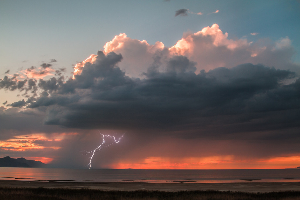sunset storm