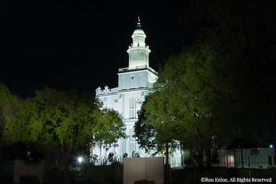 2014 St George Temple Lightpainted