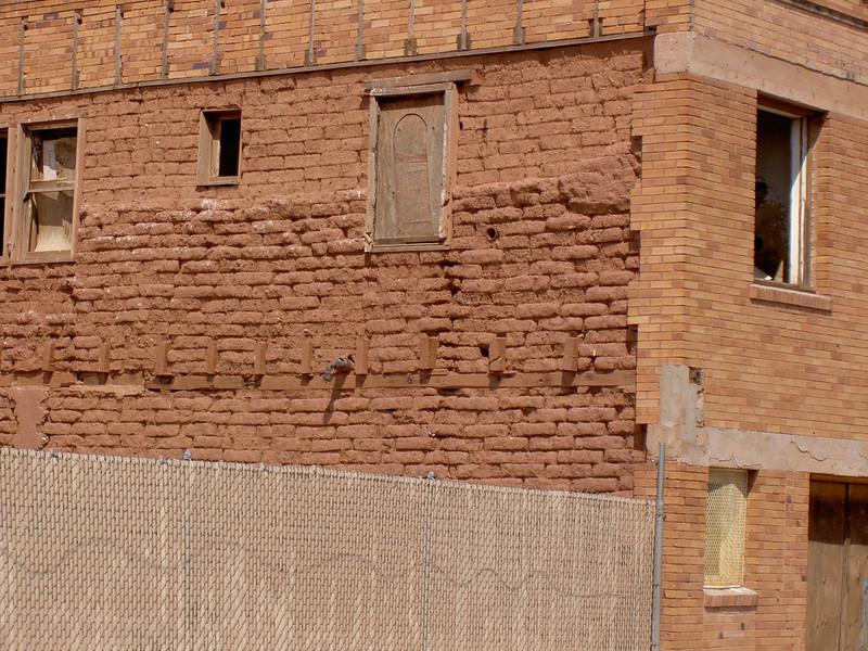Detail, Adobe Building <br /> Winslow, Arizona