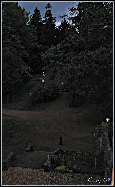 Nightfall at the Abbey <br /> Wroxton, England