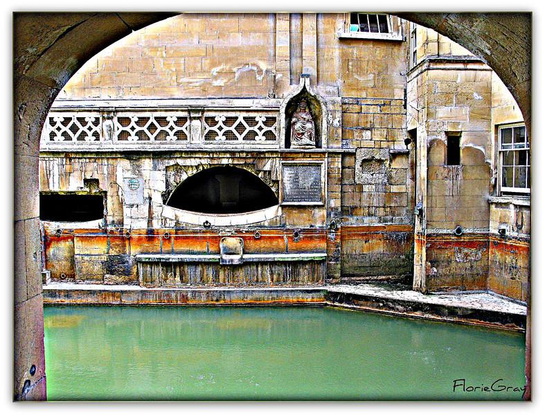 At the baths; Bath, England