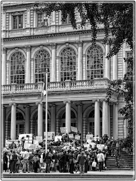 Protest at City Hall