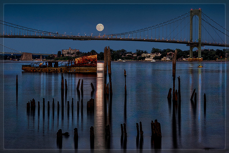 Full Moon at Clason Point, the Bronx, N.Y.