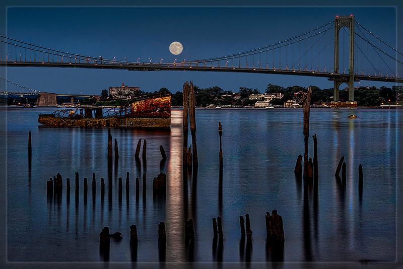 Full Moon at Clason Point, the Bronx, N.Y.