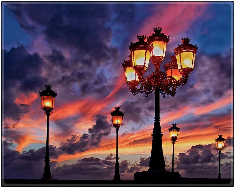 Anocheciendo en El Viejo San Juan