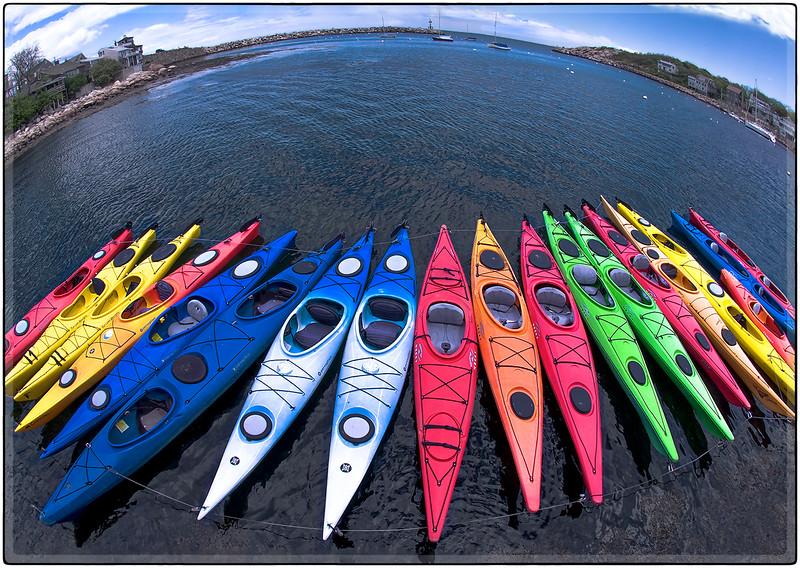 Kayaks at Rockport