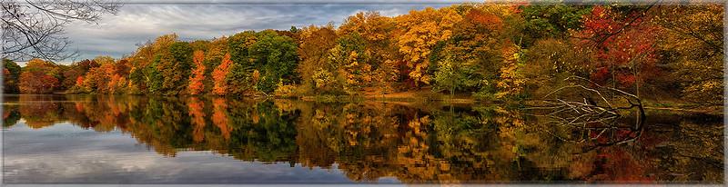 Autumn Lake at Tibbetts Brook, Yonkers, N.Y.