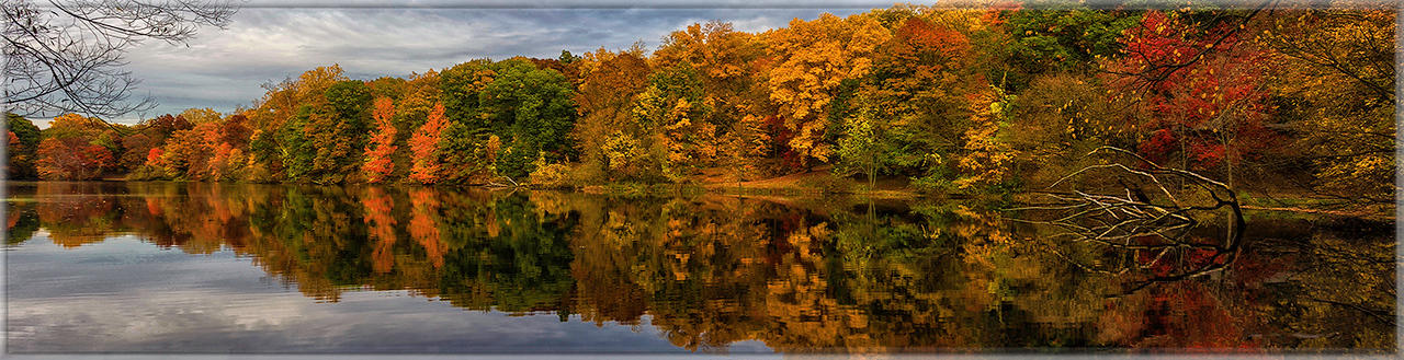 Autumn Lake at Tibbetts Brook, Yonkers, N.Y.