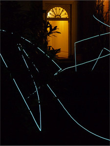 Prodigal sunbeams - 2012 - light wire - microphone stands - torches