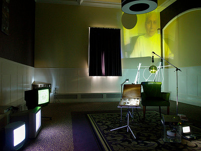 Unseen existence - 2012 - tv monitors - video - sound - found objects - projection