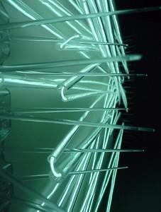 Endless motion - 2012 - light wire - plastic bird spikes