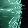 Endless motion - 2012 - light wire - plastic bird spikes
