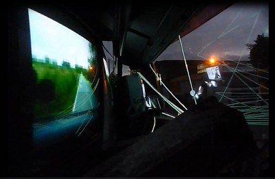 Incoming past - 2013 - discarded truck - sound - light wire - tv monitors - led