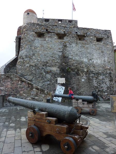 Camogli, the Dragonara castle