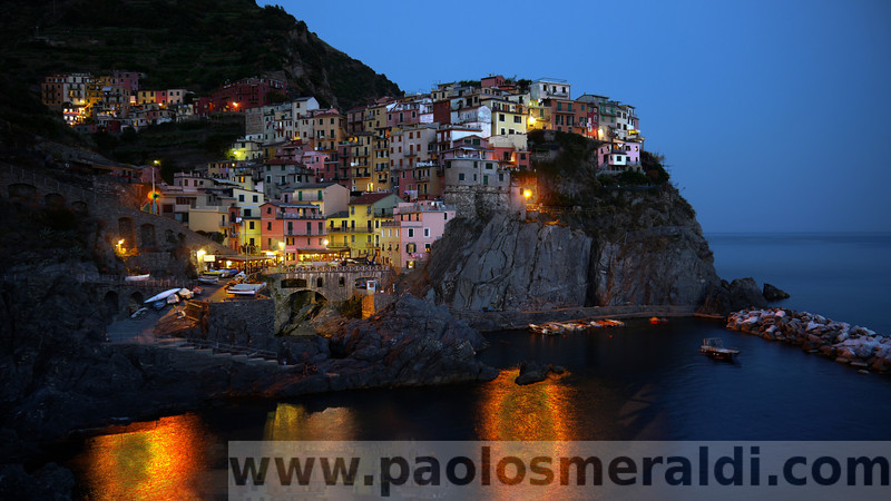 Manarola, a little village in the Cinque Terre, in Italy. 6 images HDR.