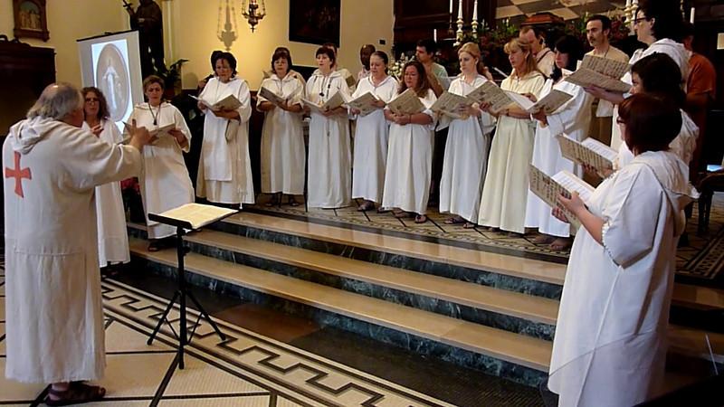 """00023.mp4 Concerto del coro polifonico """"Cantori del Mattino"""" di Noceto - Parma nella chiesa dei cappuccini di Monterosso al Mare"""