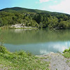 Il lago artificiale del Passo del Bocco.