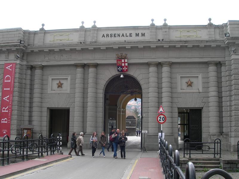 L'ingresso dell'Arsenale.