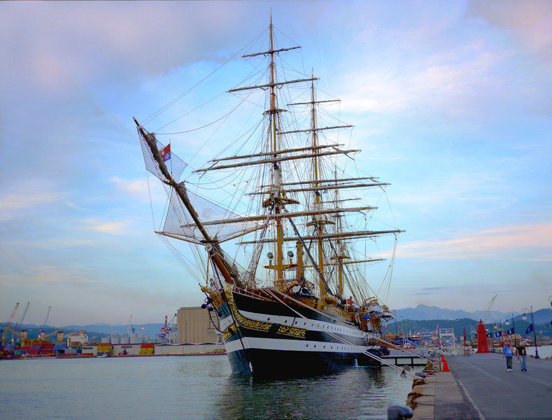 Amerigo Vespucci at La Spezia in June 2011. 3 images HDR.