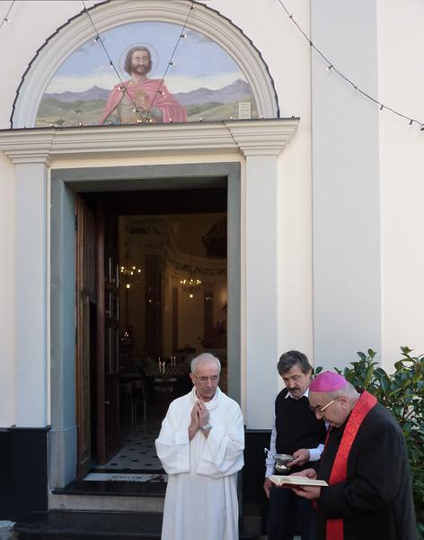 San Martino di Noceto, Rapallo. Visita del vescovo, mons. Alberto Tanasini