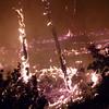 Wildfire in Lavagna, Italy,<br /> <br /> Incendio a Lavagna (GE)