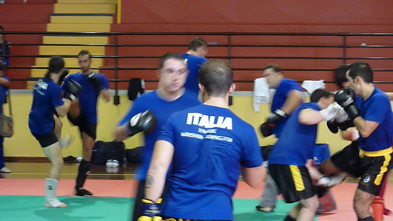 Trials for the Italian sanda team