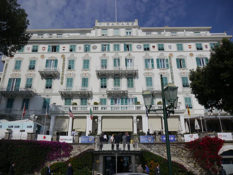 """Grand Hotel Miramare di Santa Margherita Ligure, sede del convegno dei giovani imprenditori di confindustria, """"Guardare lontano per vedere oltre"""""""