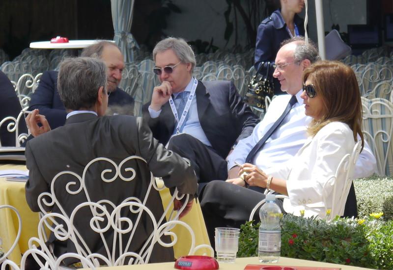Federico Ghizzoni, Emma Marcegaglia al 41° convegno dei giovani imprenditori di confindustria a Santa Margherita Ligure.