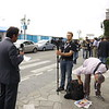 I colleghi di Primocanale in diretta video in streaming su connessione HSUPA.