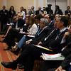 La platea al convegno dei giovani imprenditori di Confindustria a Santa Margherita Ligure.