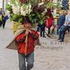 Flower peddler n Lima Peru