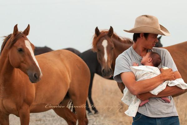 Lil' Cowboy & dad