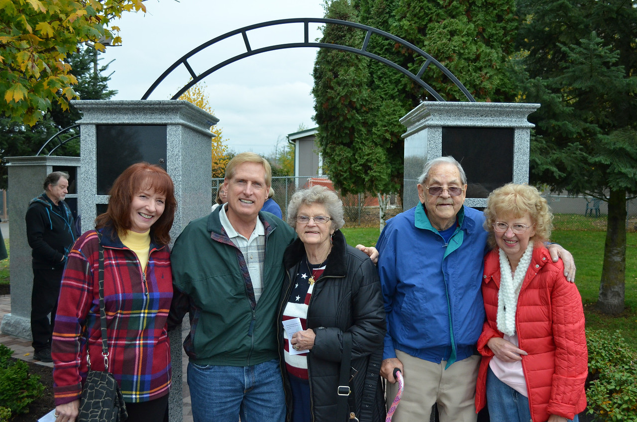 WHS supporters attend the dedication of the Lila Kay Peace Garden in Fall 2013.