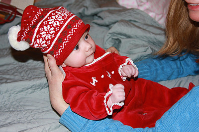 Dressing up for the Holidays - age 7 weeks.