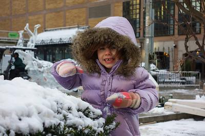 Lila enjoying 1st snowfall of  the season.