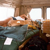 112 - Jane snoozing in the van with the brown