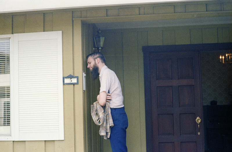 1 - Paul inspecting the temp at Bobs house