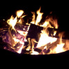 Fire while camping