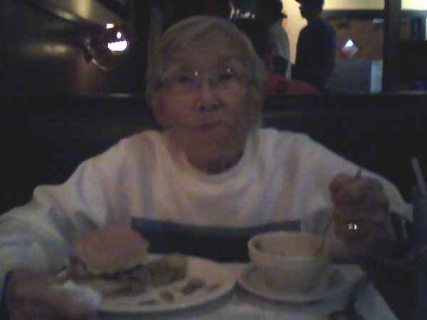 Grandma at Vinces Spaghetti