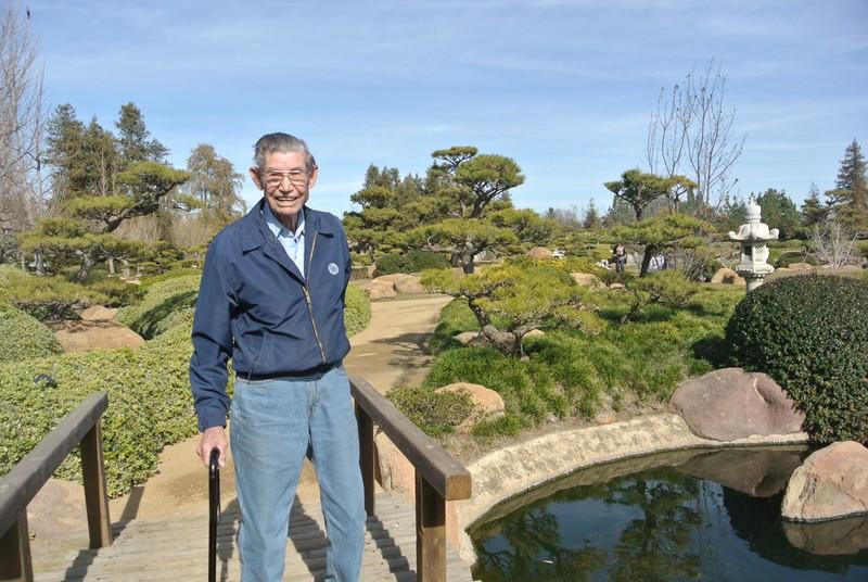 Grandpa at Japanese garden in LA