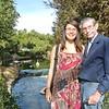 Cindy & Grandpa at Japanese garden in LA