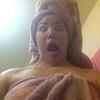 Lisa after shower